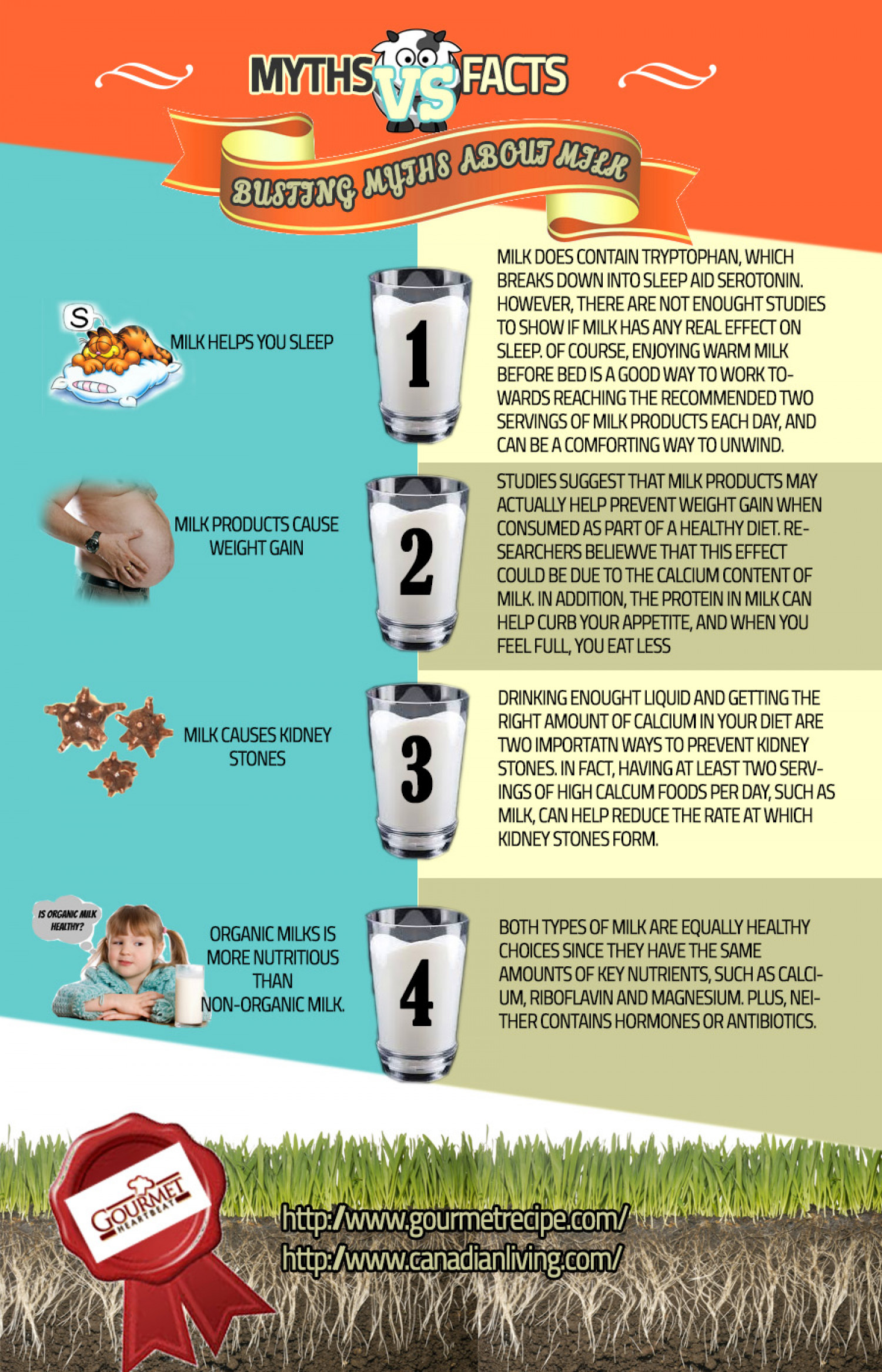 Busting Myths About Milk Infographic