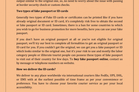Buy a fake passport online to save your original passport or id cards Infographic
