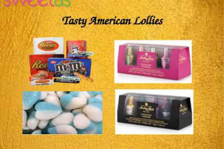 Buy American Lollies from Sweet As Infographic
