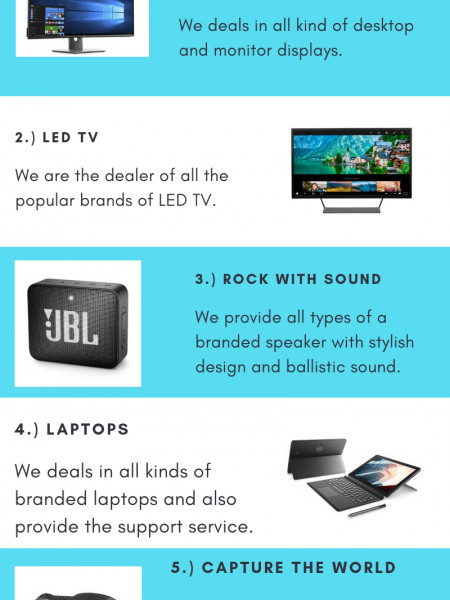 Buy Desktops & Monitors in Dubai Infographic
