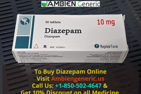 Buy Diazepam Online for Pain - Ambiengeneric.us Infographic