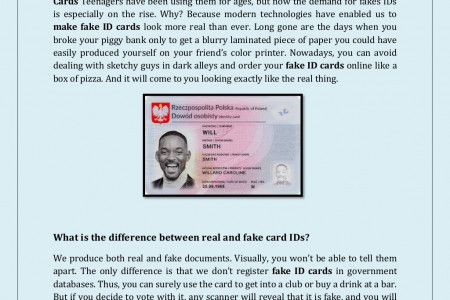 Buy fake ID cards online | Fake ID card Maker - enjoy everything life has to offer Infographic
