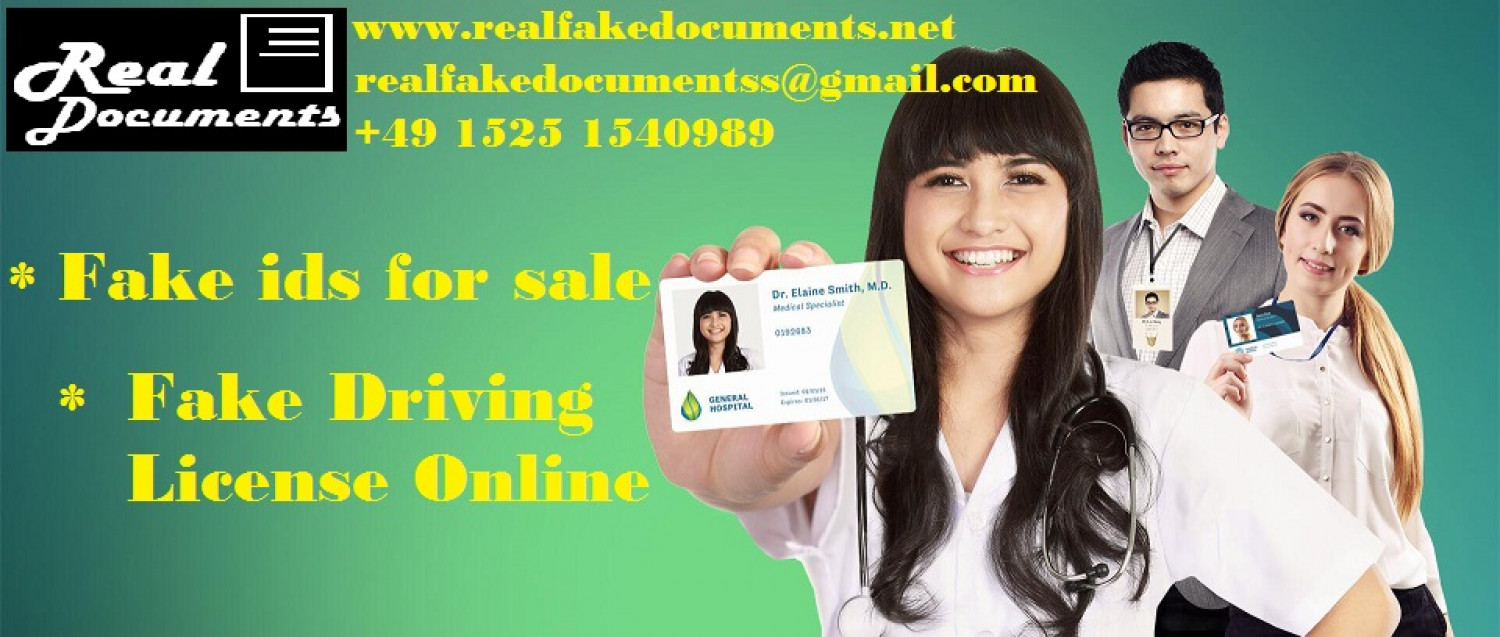 BUY FAKE IDS AND FAKE DRIVING LICENSE ONLINE FROM FAKE ID CARD MAKER Infographic