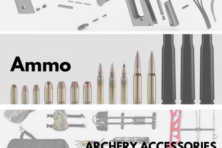 Buy guns, ammo and shooting accessories online at the best prices Infographic