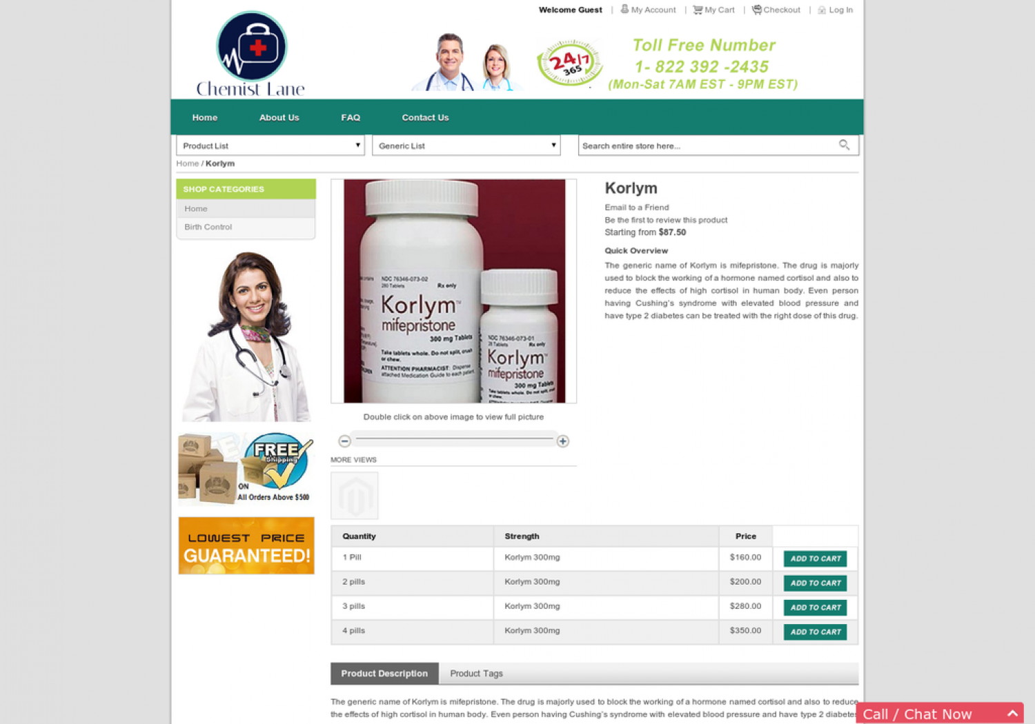 Buy Korlym Abortion Pill Online | Mifepristone fast shipping Infographic