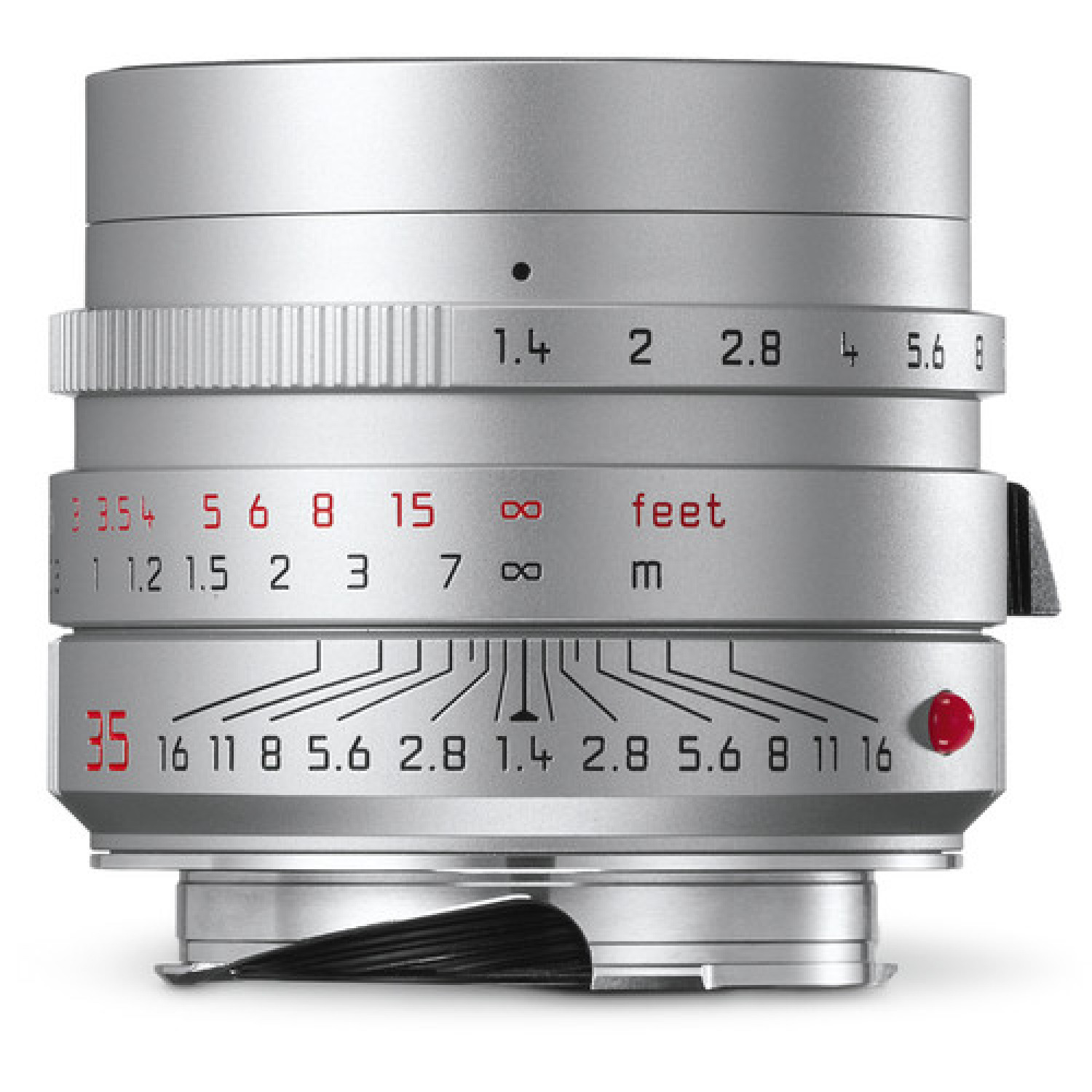 Buy Leica 35mm F/1.4 Summilux-M ASPH Lens (Silver) In Canada Infographic