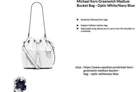 Buy Michael Kors Greenwich Medium Bucket Bag Infographic