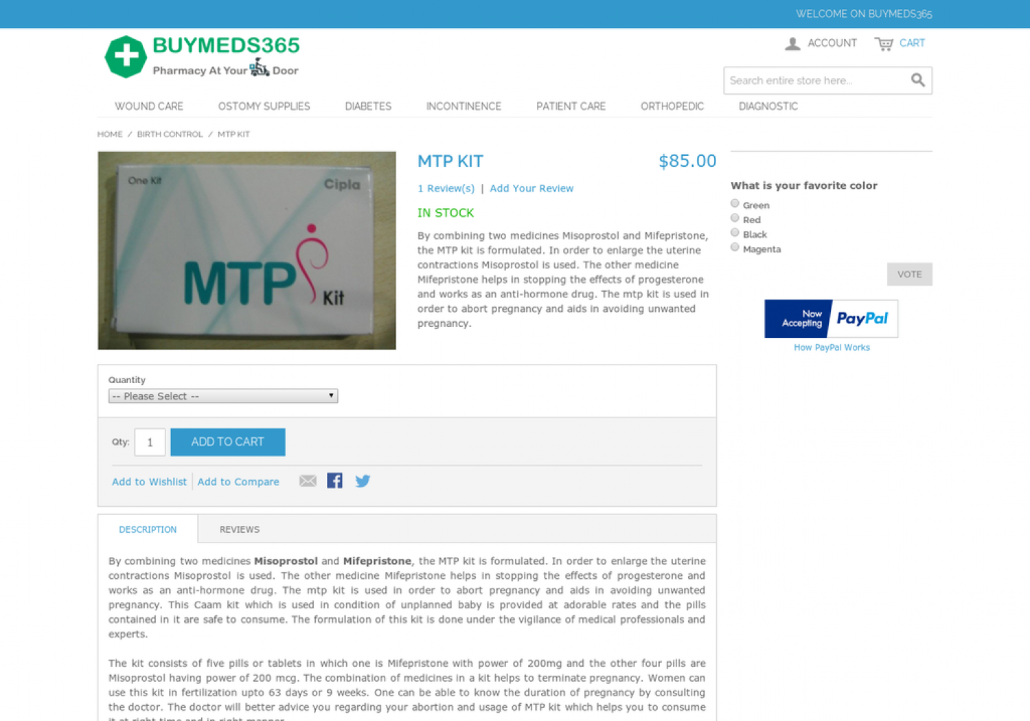 Buy MTP Kit Online USA Infographic