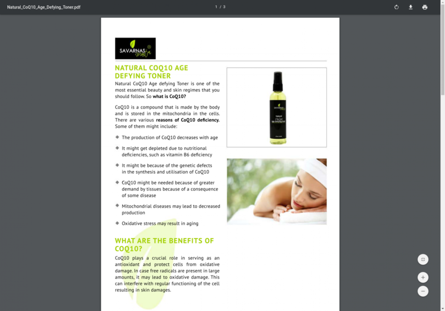 Buy Natural Age Defying Toner Online Infographic