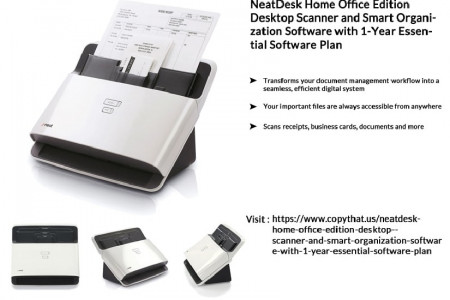 Buy NeatDesk Home Office Edition Desktop Scanner and Smart Organization Software Infographic