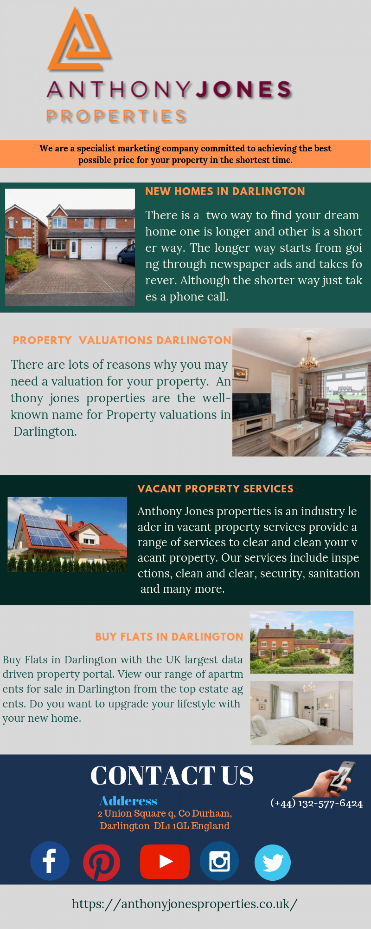 Buy New Home In Darlington | Anthony Jones Properties Infographic