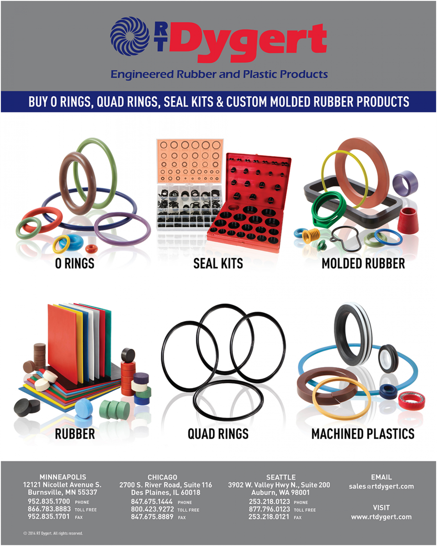Buy O Rings, Quad Rings, Seal Kits and Custom Molded Rubber Products ...