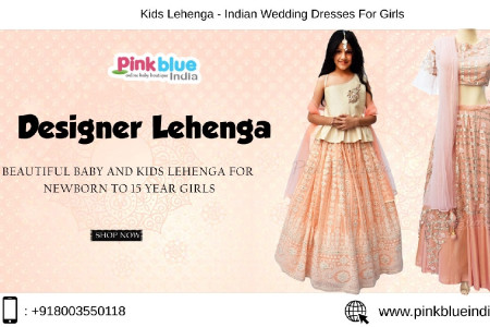 Buy Online Kids Lehenga from Pink Blue India Infographic