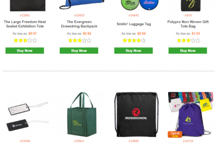 Buy Online Promotional Totes, Backpacks, Cinch, Gym, Laptop & Business Bags   Infographic