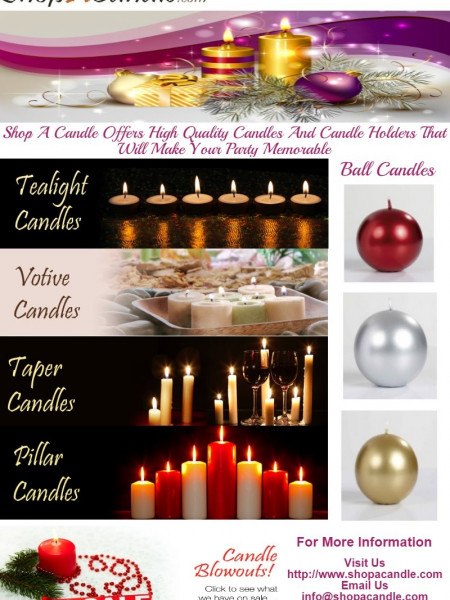 Buy Online Scented And Unscented Candles At Shopacandle.Com. Infographic