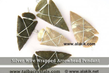 Buy online Silver Wire Wrapped Arrowhead Pendant in wholesale rates Infographic