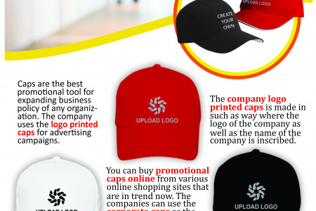 Buy Promotional or Corporate Caps with Company Custom Logo Printed Online in India Infographic