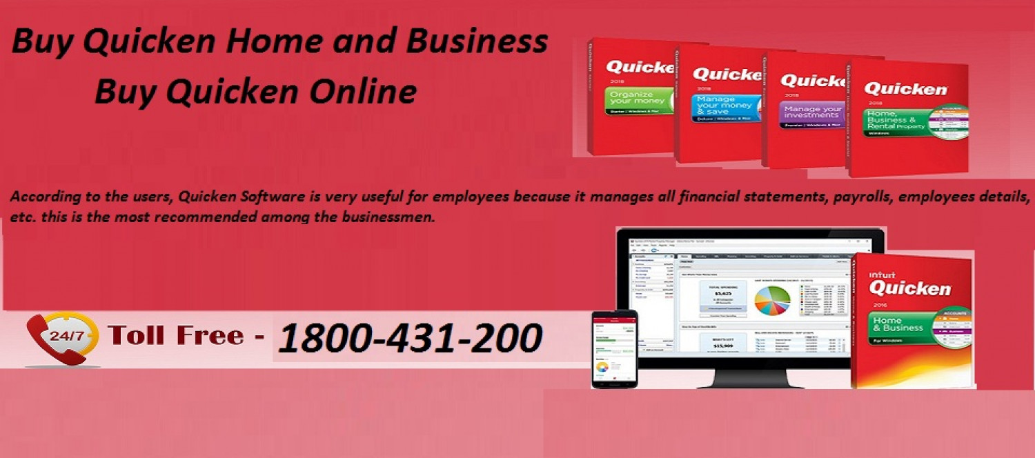 Buy Quicken Home and Business Infographic