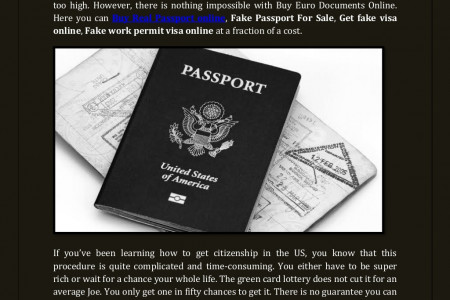 Buy Real Passport Online at Buy Euro Documents Online Infographic