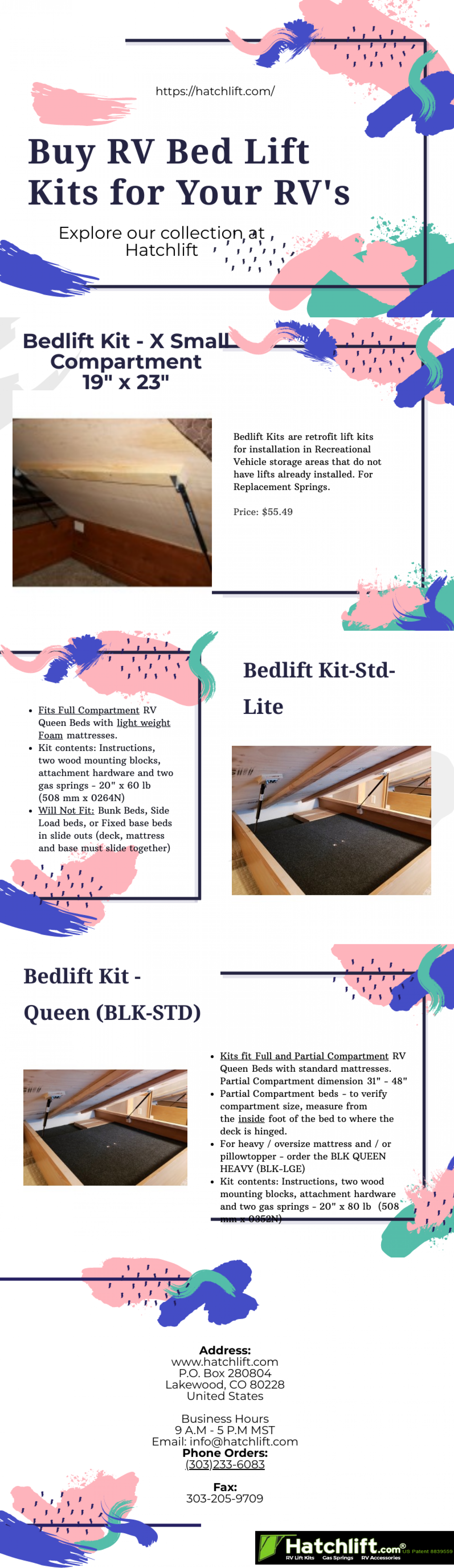 Buy RV Bed Lift Kit for Your RV's Infographic