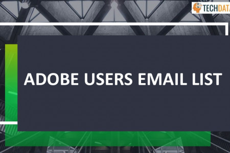 Buy Targeted Adobe users email list Infographic