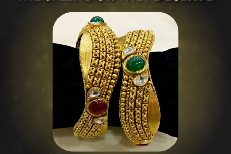 Buy Traditional Gold Bangles from K K Jewellers Infographic