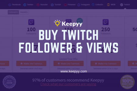 Buy Twitch Followers & Views ! | Boost all the way up!! Infographic