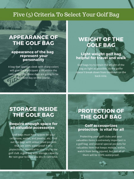 Buying Guide of Best Golf Bag for Walkers Infographic