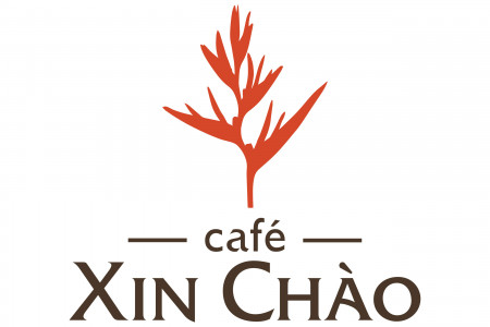 Cafe Xin Chao Logo Design Infographic