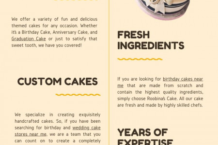 Cake for Any Occasion - Birthday, Wedding and Graduation  Infographic