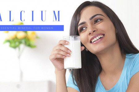 Calcium-an essential mineral for women's health Infographic