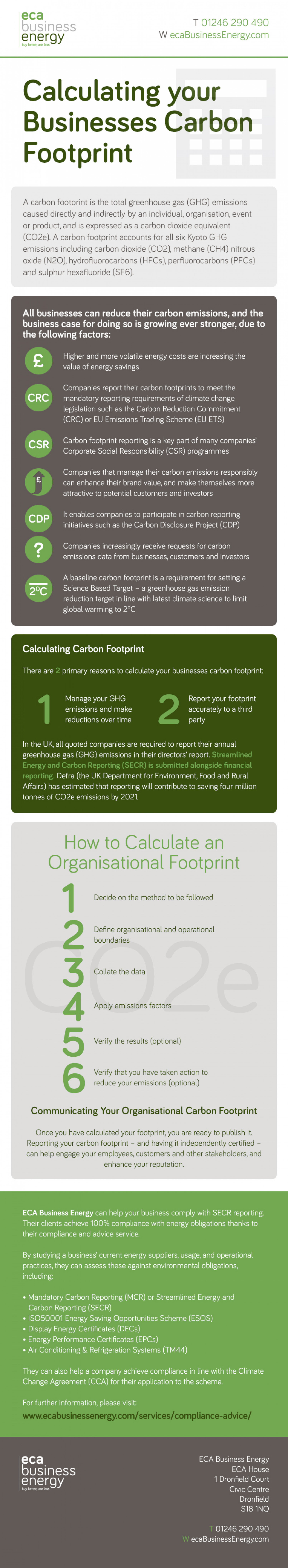 Calculating Your Businesses Carbon Footprint Infographic