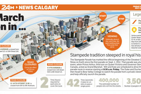 Calgary Stampede Map Infographic