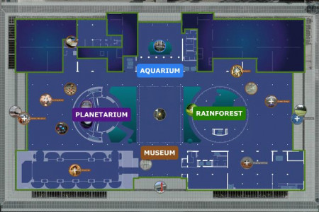 California Academy of Sciences Exhibit Planner Infographic