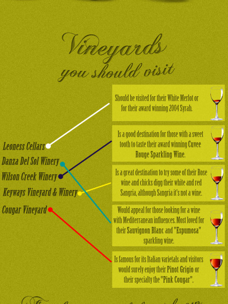 California and Temecula Valley Wine Facts Infographic