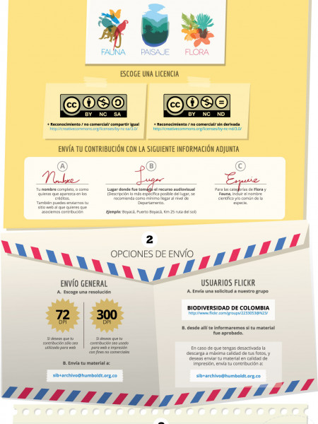 Galeria Audiovisual SiB Colombia Infographic