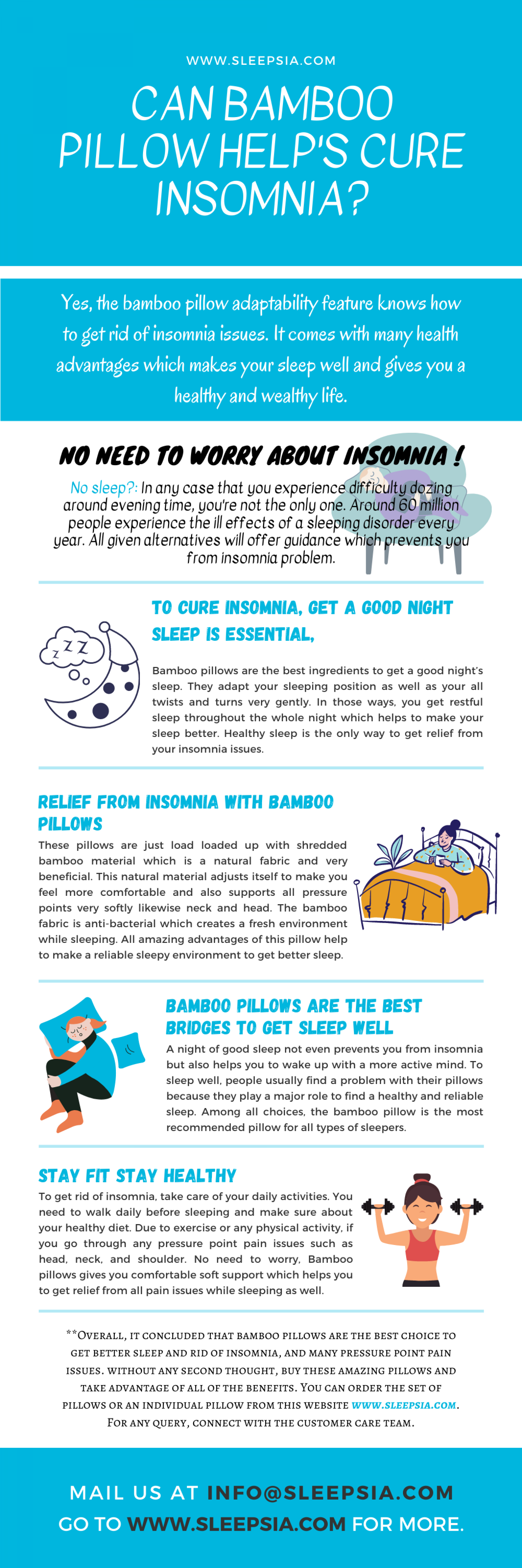 Can Bamboo Pillow Helps cure Insomnia? Infographic