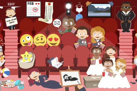 Can you find the 21 romantic films in under 5 minutes? Infographic