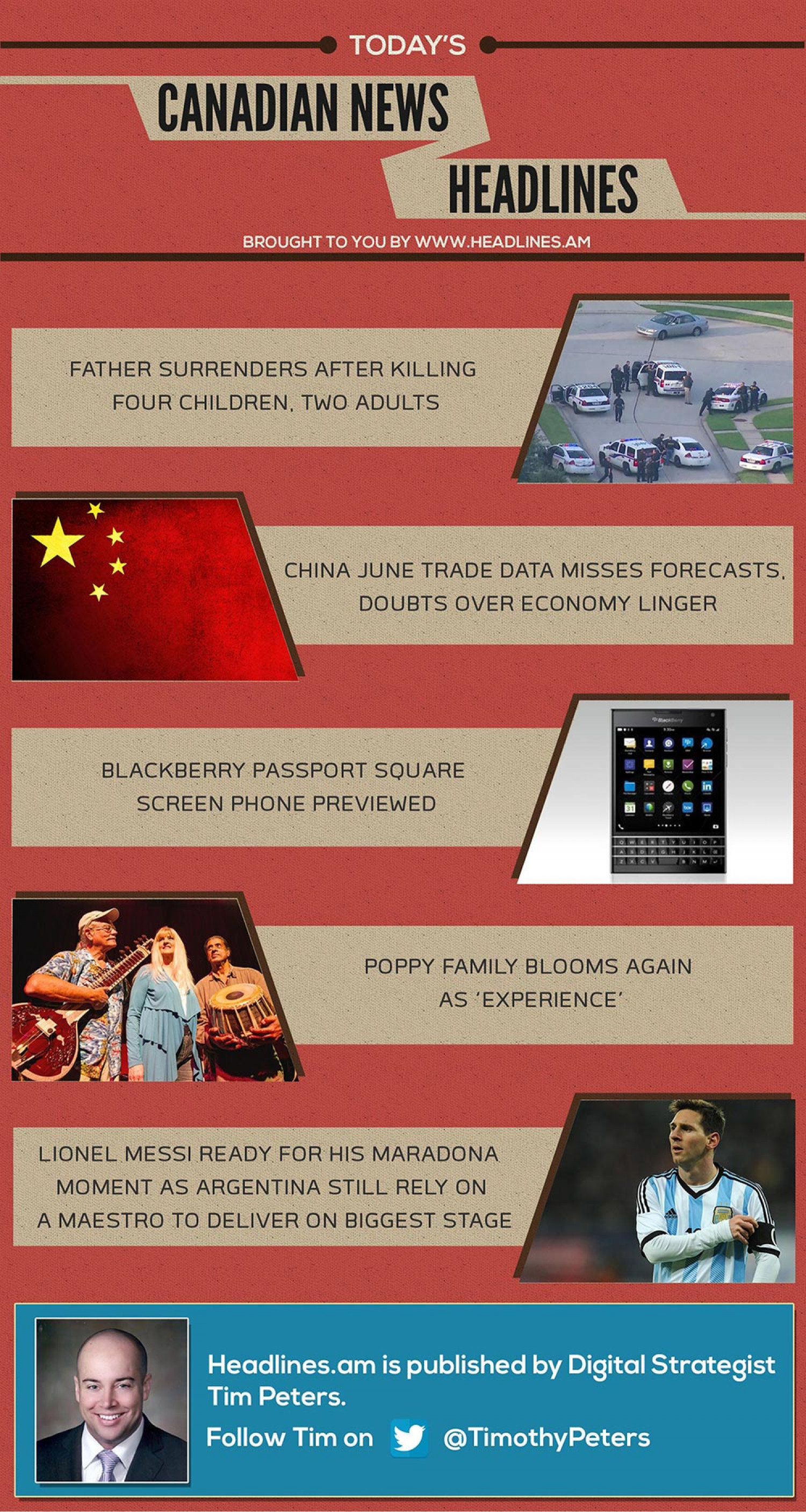 CANADIAN NEWS HEADLINES - July 10, 2014 Infographic