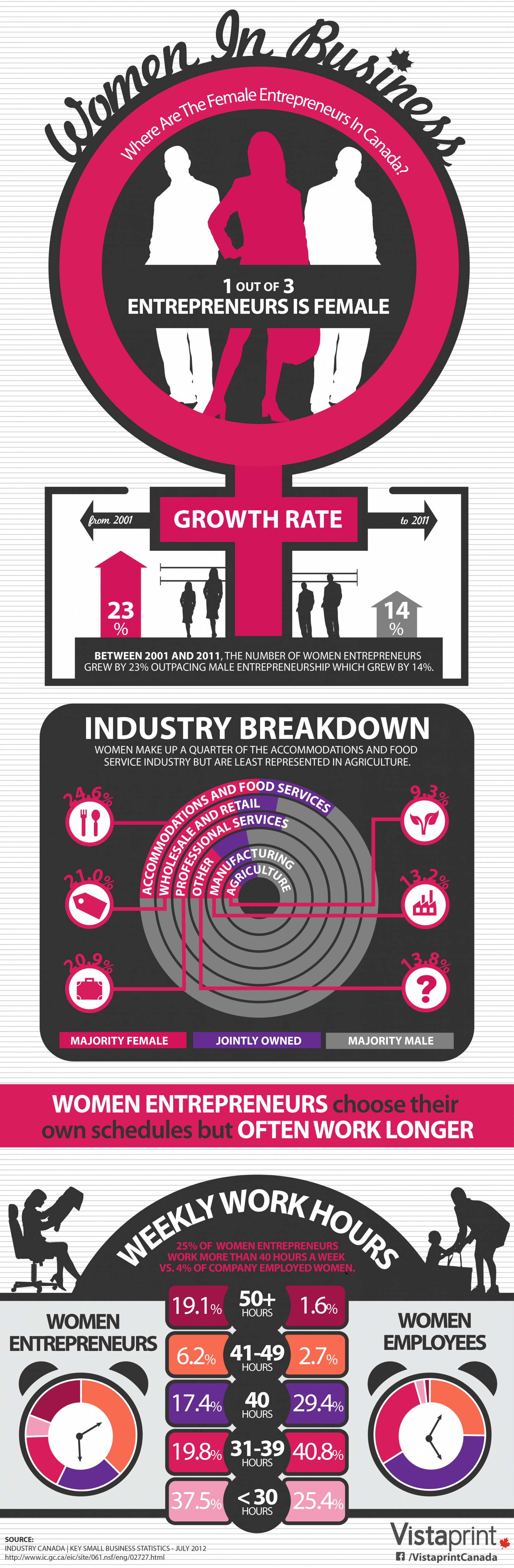 Canadian Women In Business Infographic