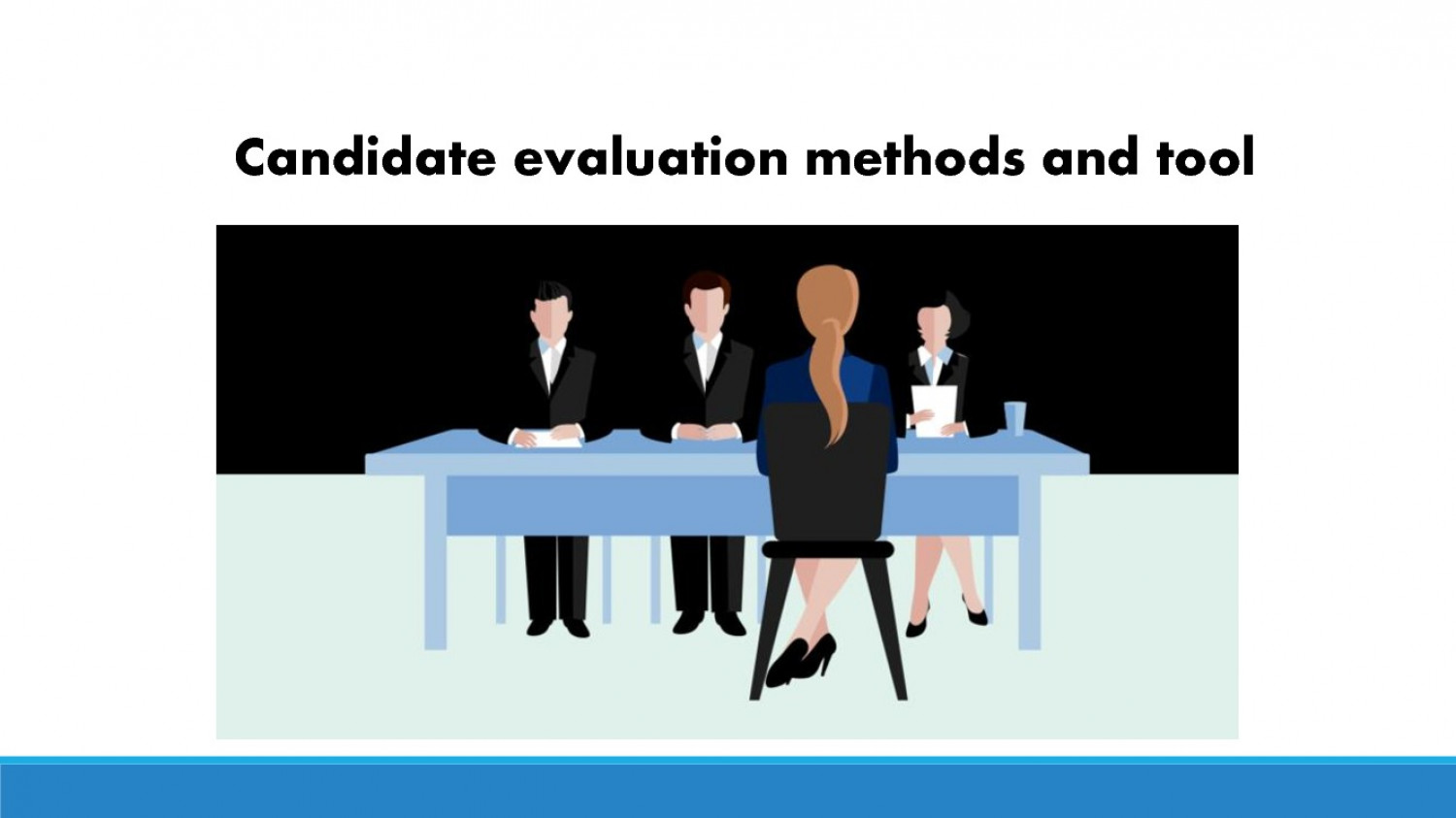 candidate evaluation methods and tools Infographic