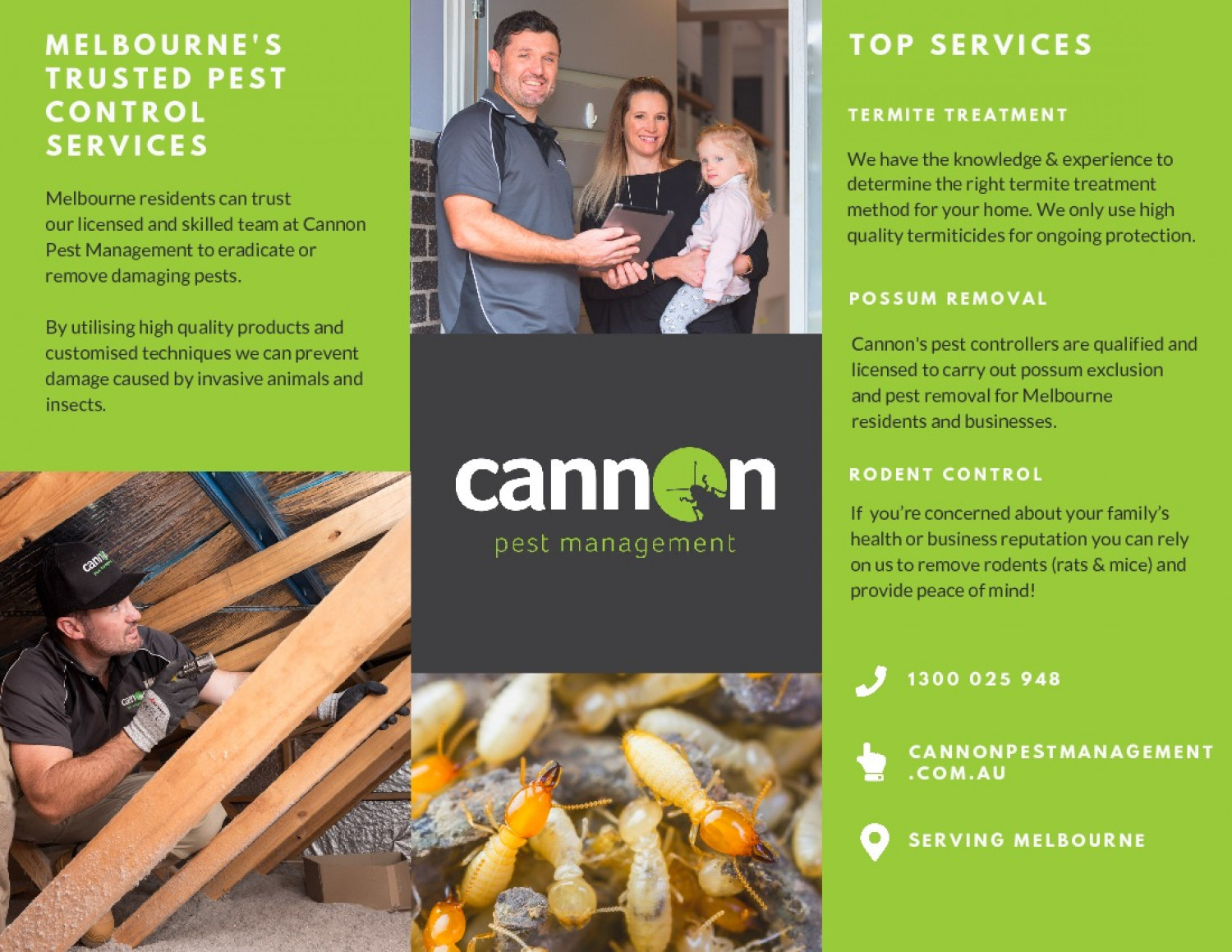 Cannon Pest Management Brochure Infographic