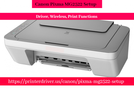 Canon Pixma MG2522 Setup - Driver, Wireless, Print Functions Infographic
