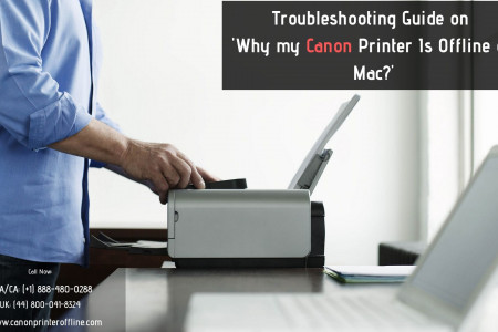 Canon Printer Is Offline On Mac? Dial Canon Printer Helpline +1-888-480-0288 Infographic
