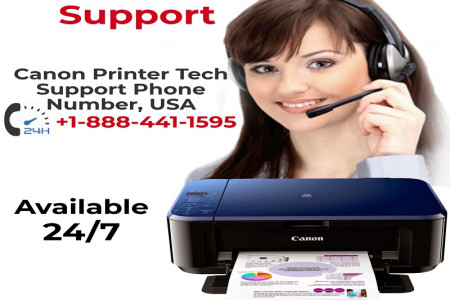 Canon Printer Support in USA | +1-888-441-1595 Infographic