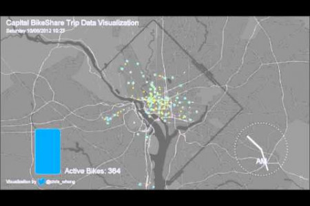 Capital BikeShare Data Visualization Infographic