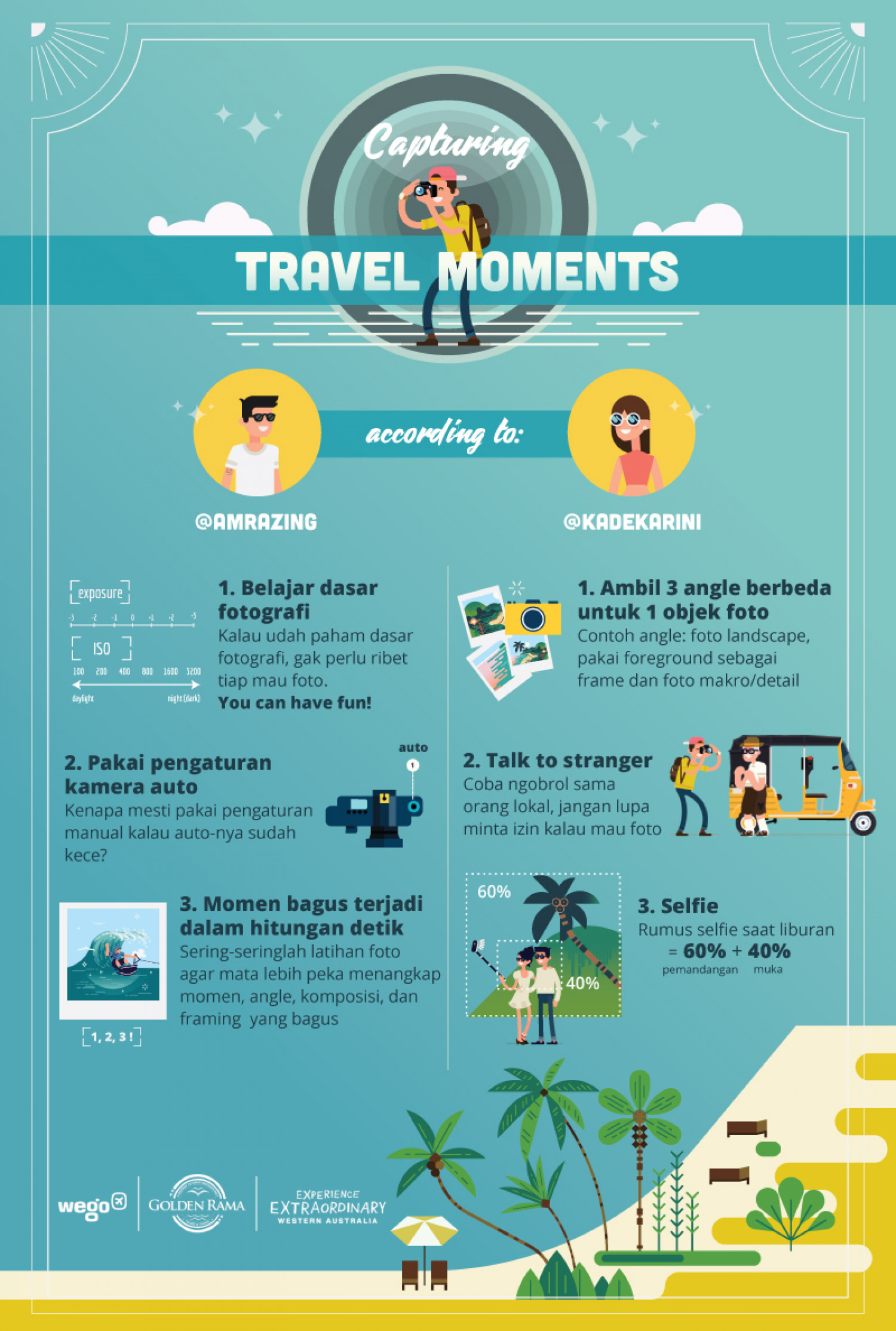 Capturing Travel Moments Infographic