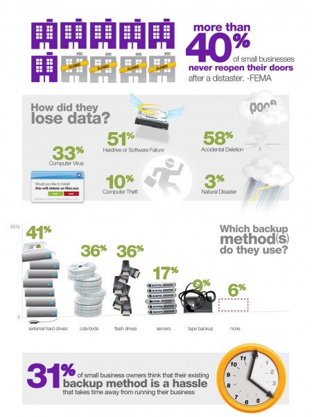Carbonite Small Business Disasters Infographic