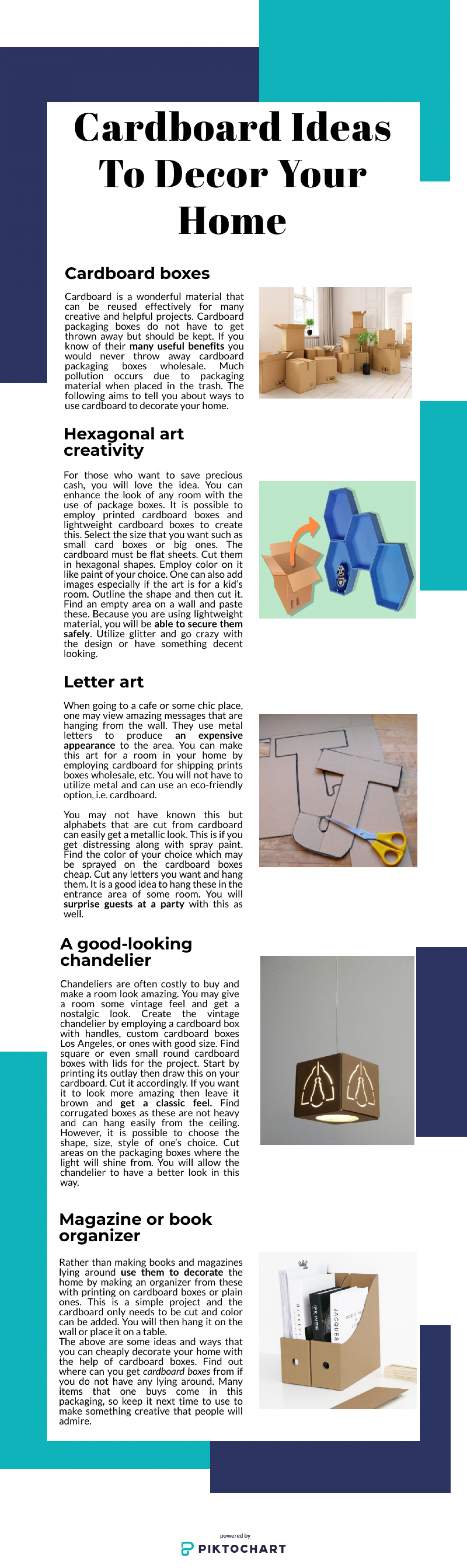 Cardboard Ideas To Decor Your Home Infographic