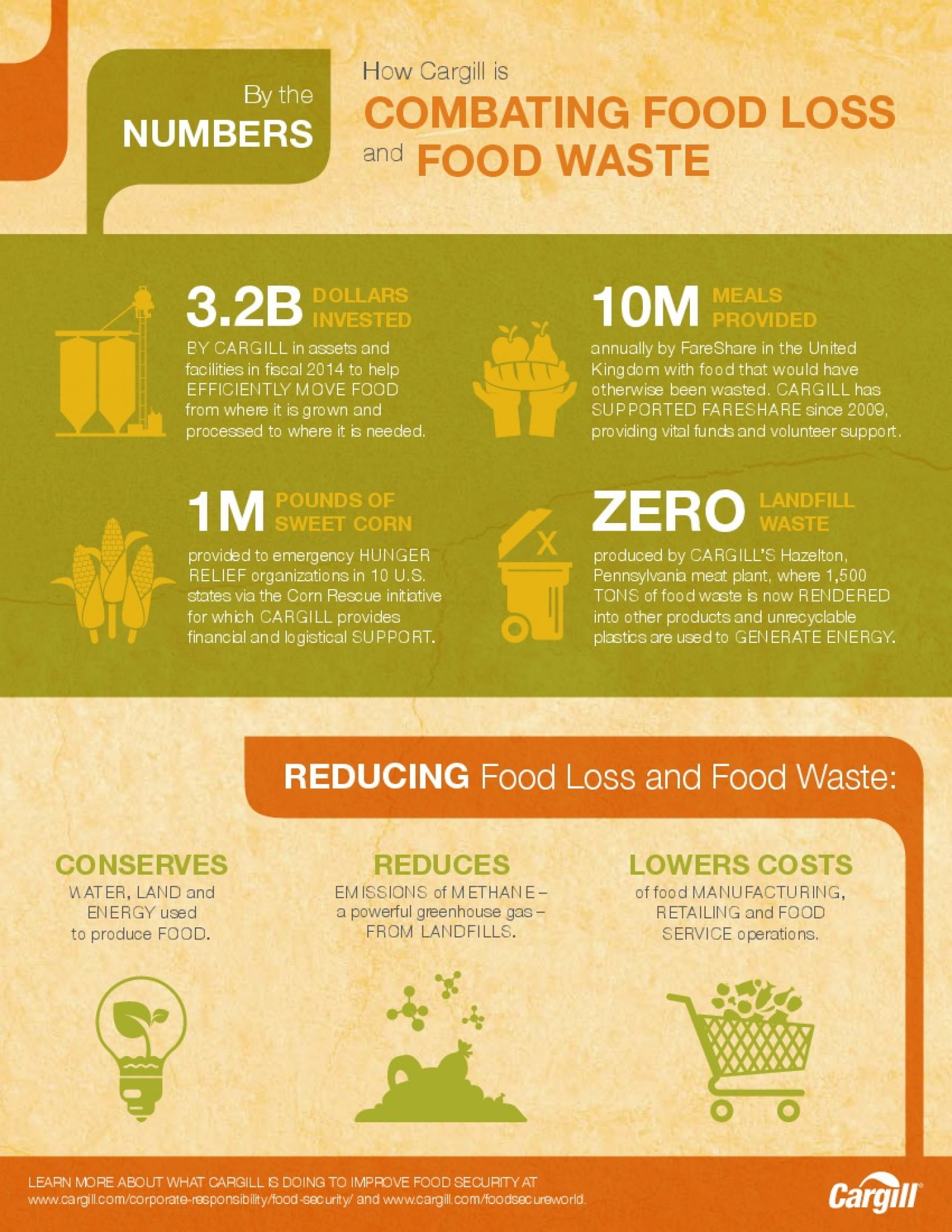 Cargill Food Waste Infographic